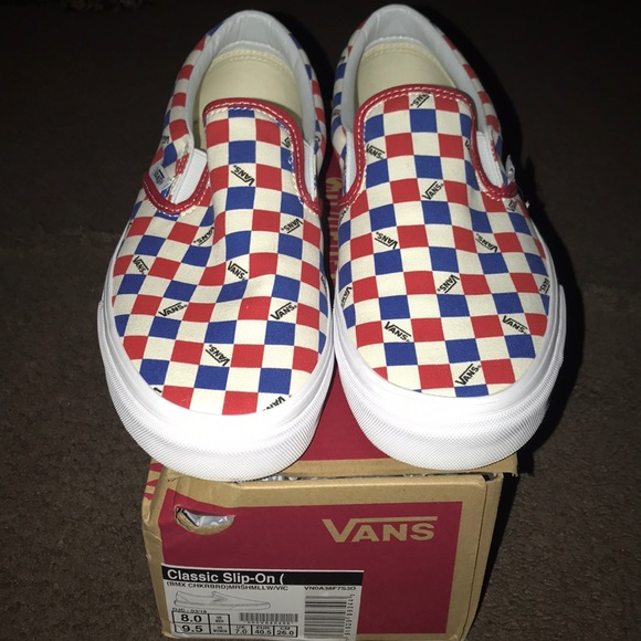 7c7e26480a Vans Factory Pack Classic BMX Checkerboard Slip On